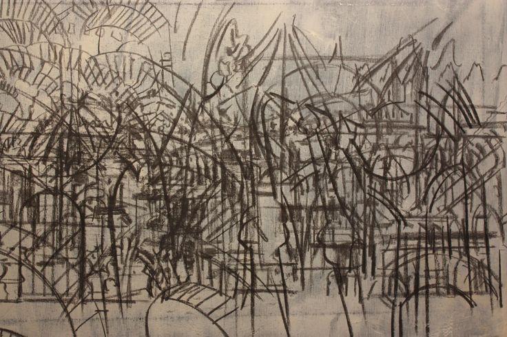 Cordoba | Charcoal on Canvas | Sketched Idea | Concept | 2015