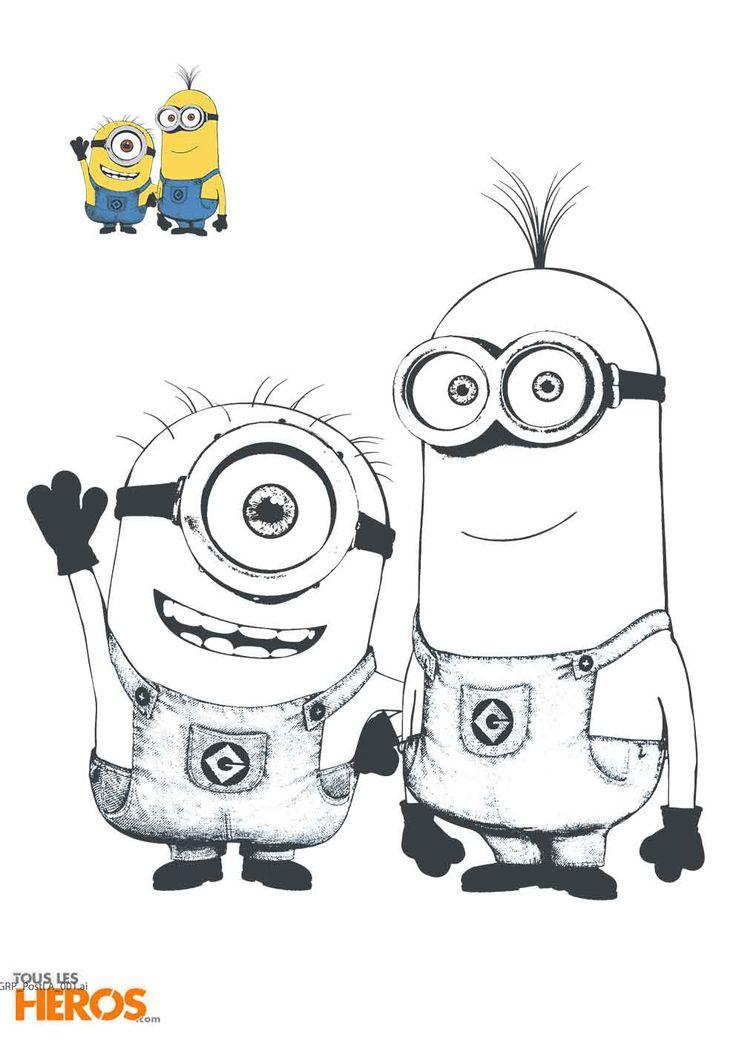 Découvrez 5 nouveaux #coloriages 100% inédits Les #Minions ! #despicableme #lesminions #activités #enfants #fun #banana