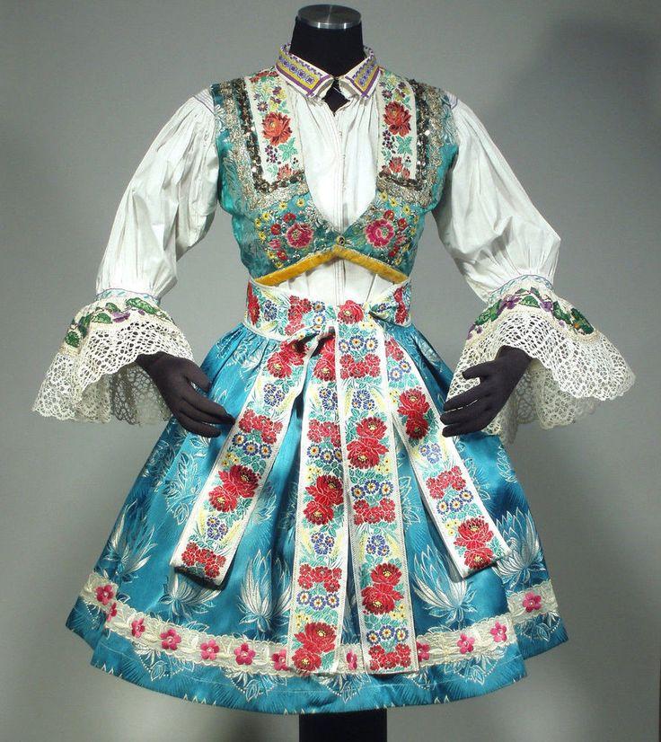 CZECH FOLK COSTUME embroidered blouse vest skirt apron ethnic Moravian KROJ rare in European   eBay
