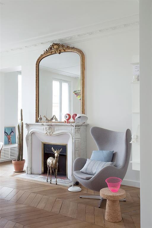 17 meilleures id es propos de int rieurs d 39 appartements for Miroir au dessus d une cheminee