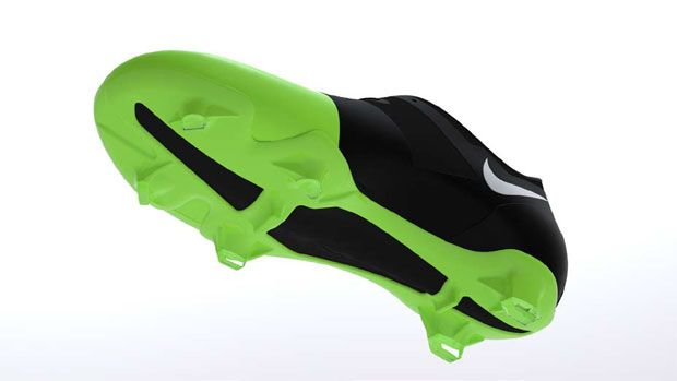 Injection moulded football boot, bio-based polymer.