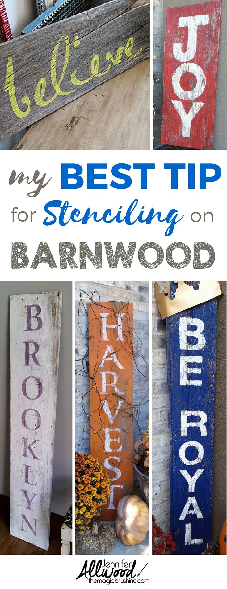 My best tip for stenciling on barnwood