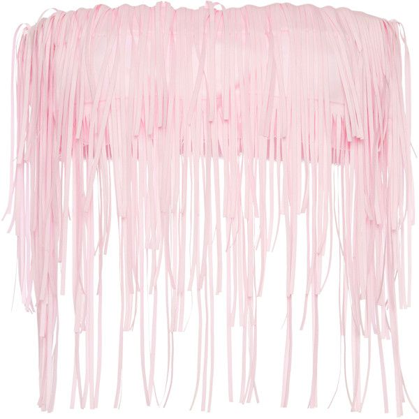 Paskal     Fringe Bandeau Top ($310) ❤ liked on Polyvore featuring tops, pink, bandeau bikini tops, bandeau tops, cut-out crop tops, fringe crop top and fringe tops