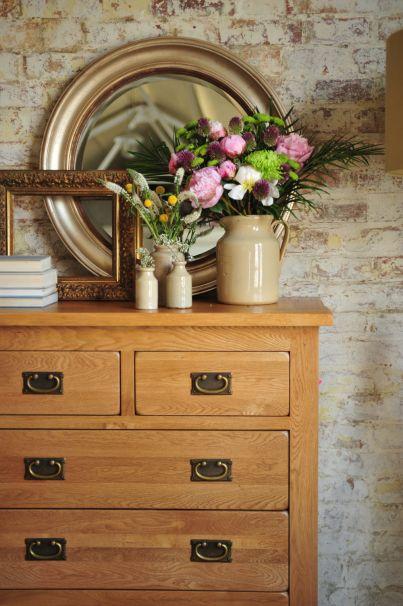 Rustic Oak bedroom furniture, Rustic Oak Chest of Drawers