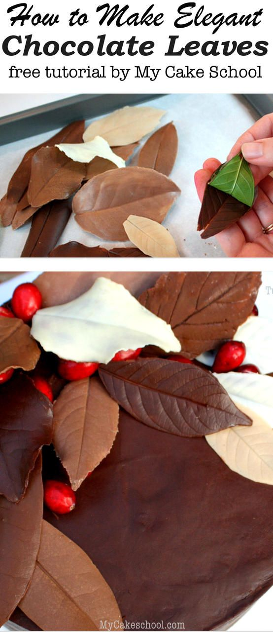 Learn how to make elegant chocolate leaves in this free My Cake School blog tutorial!