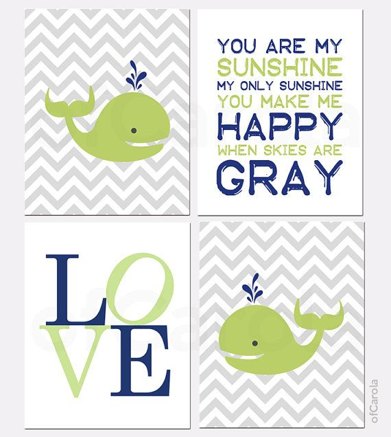 Hey, I found this really awesome Etsy listing at https://www.etsy.com/listing/165297275/you-are-my-sunshine-boys-whale-nursery