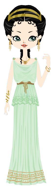 Greek girl with a jonic peplo by marasop.deviantart.com on @DeviantArt
