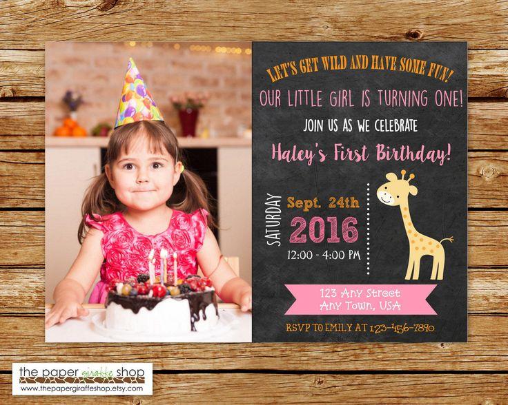 Giraffe Invitation | Giraffe Birthday Invitation | Giraffe Party Invite | Jungle Birthday Party | Sophie the Giraffe Invitation | (Any Age) by ThePaperGiraffeShop on Etsy