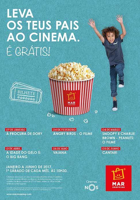 Leva os Teus Pais ao Cinema - Cinema - Primeiro Sábado de cada Mês às 10:06 - MAR Shopping