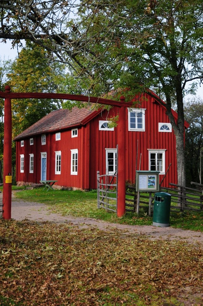 Vackra faluröda hus som inspirerar