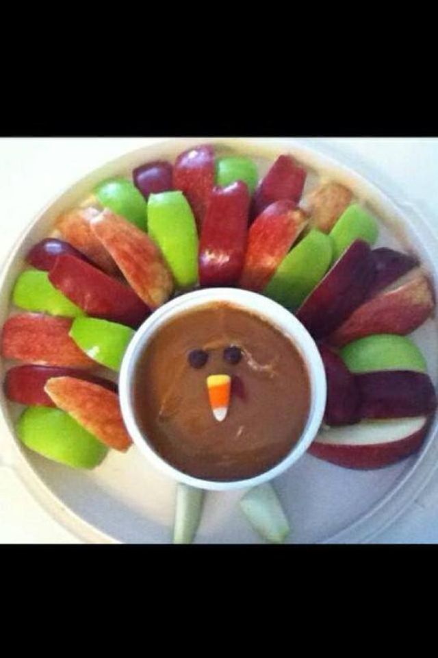 Fun turkey snack; thanksgiving; kids Summer or Susan one of us will have to make this for Thanksgiving !!