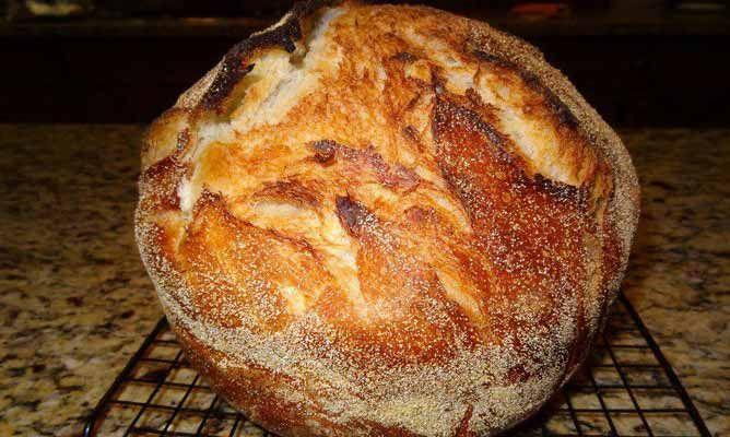 PAN HOLANDÉS AL HORNO Ingredientes para una hogaza de pan 1/4 cucharadita de levadura seca 1 1/2 tazas de agua tibia 3 tazas de harina para todo uso...