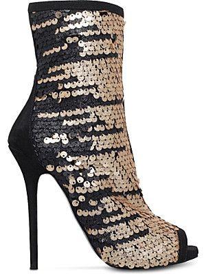 CARVELA Glamour sequin-embellished sandals