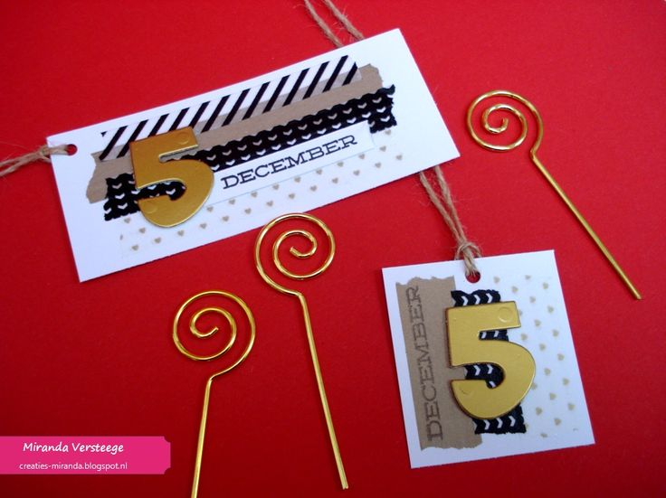 Miranda's Creaties - Sticky Sunday #12: Sinterklaas labels