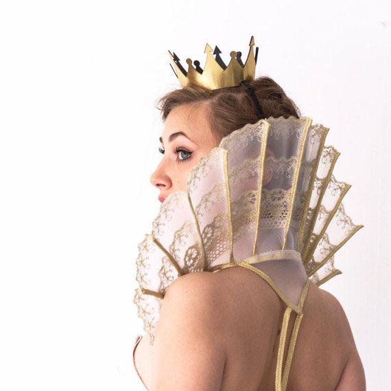 Acerino Elizabethan abierto ruff cuello de por CostumeRenaissance