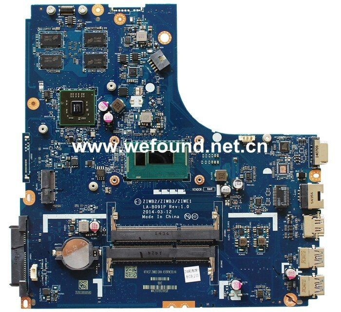 Laptop Motherboard For Lenovo B50 70 La B091p With I3 Cpu On Board Fully Tested