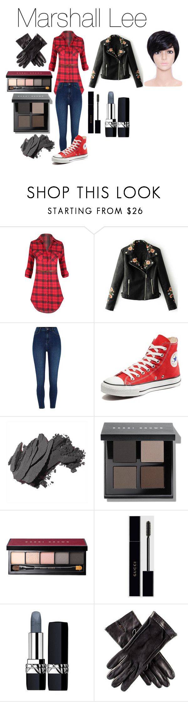 """Marshall Lee the Vampire King from Adventure Time"" by tori-camilleri on Polyvore featuring WithChic, River Island, Converse, Bobbi Brown Cosmetics, Gucci, Christian Dior and Black"