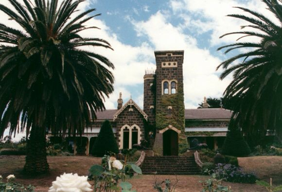 An earlier view of Narrapumelap homestead when its restoration had just begun.