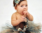 Adorable Camouflage Girly Girl Tutu Skirt & Matching Headband Or Clip - Perfect For Welcome Homes
