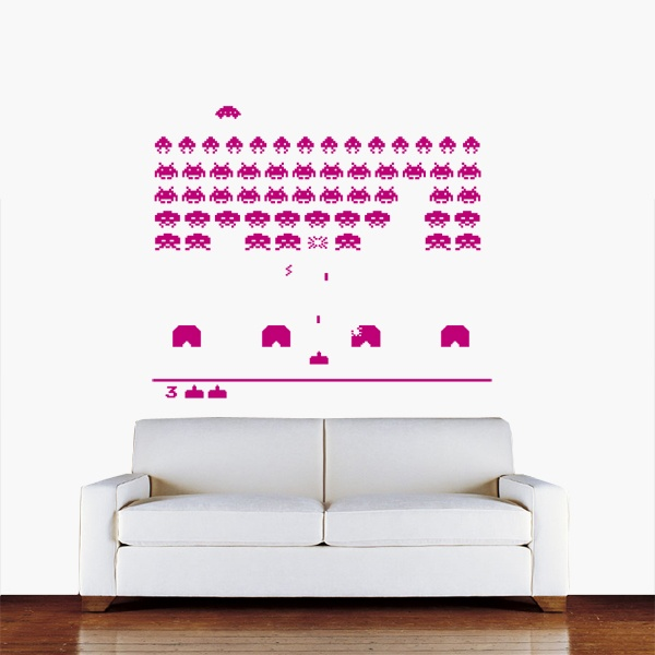21 best images about work office ideas on pinterest office wall decals white board paint and - Space invader wall stickers ...