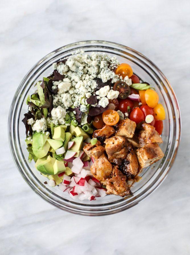 honey mustard chicken chopped salad I http://howsweeteats.com