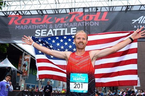 RunnersWeb   Athletics: Jared Ward Wins Alaska Airlines Rock 'n' Roll Seattle Half Marathon in Olympic Tune-Up