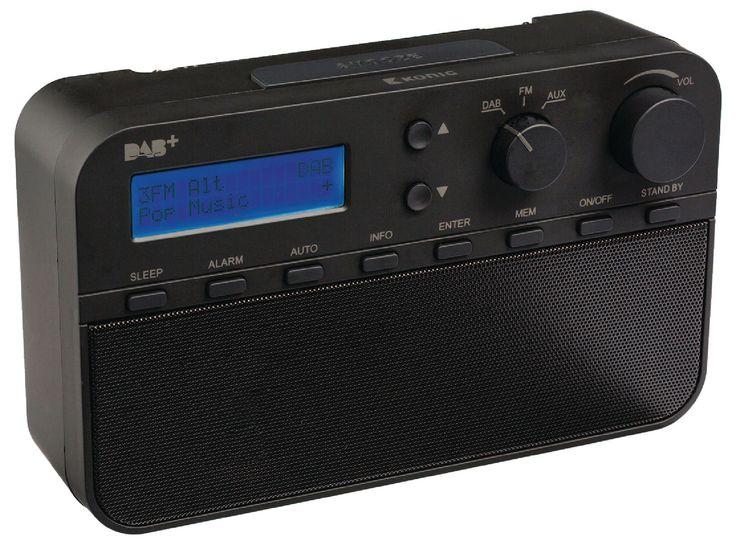 Draagbare radio voorzien van DAB+-technologie om af te stemmen op ieder radiostation en te genieten van digitale audiokwaliteit. De DAB+ radio is verkrijgbaar in de kleuren: zwart, rood, blauw en wit.