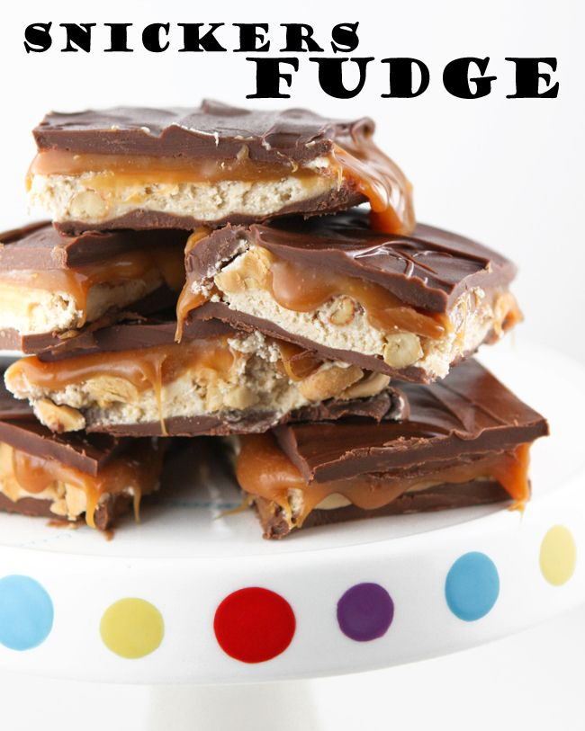 Snickers fudge- Oh my!  I have to make this fudge!