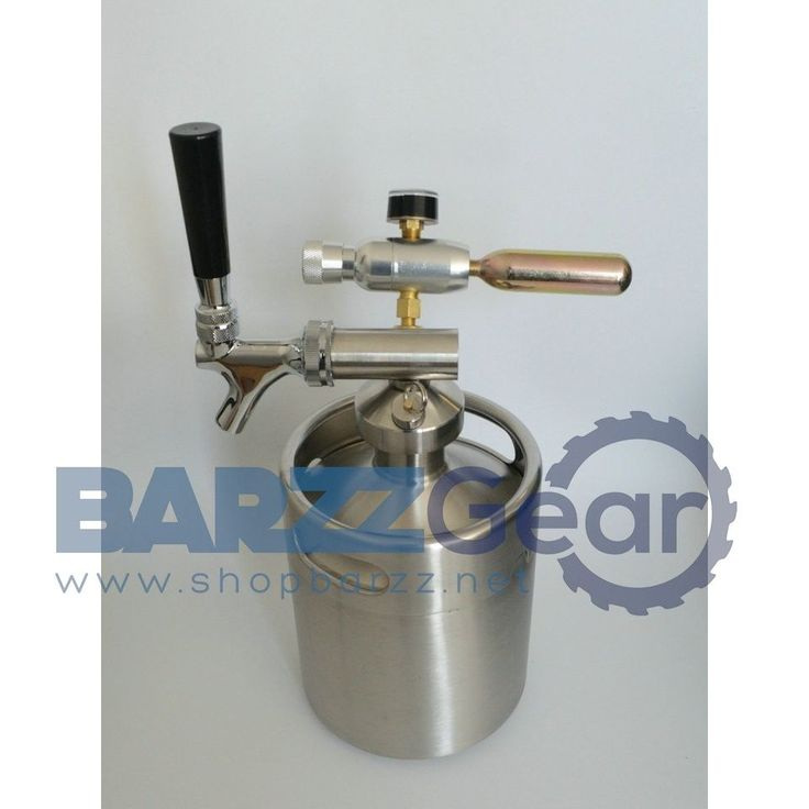 Beverage Spear With Tap Faucet 2L/64oz Keg Coupler/Growler Spears with CO2 Injector