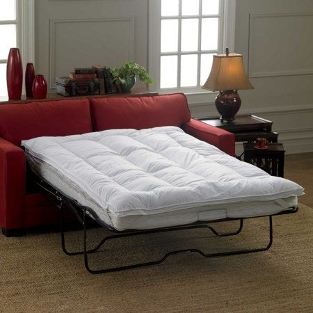 use the sleeper sofa mattress topper to turn a lumpy sofa bed into a luxurious sleeping experience with this bed topper you can easily