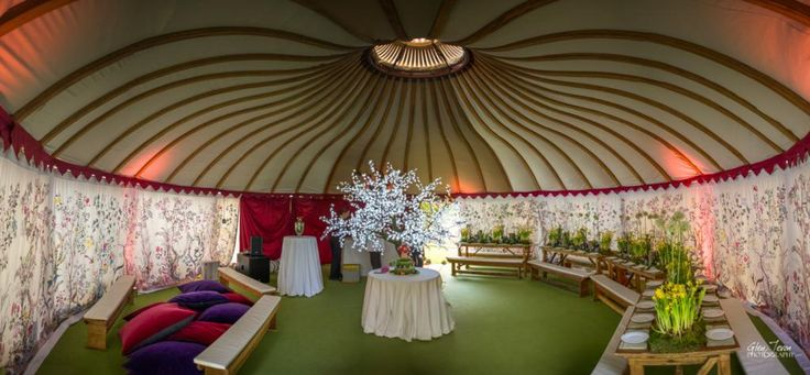 We love this picture of our LPM Bohemia Yurt at a stunning enchanted woodland themed birthday party.