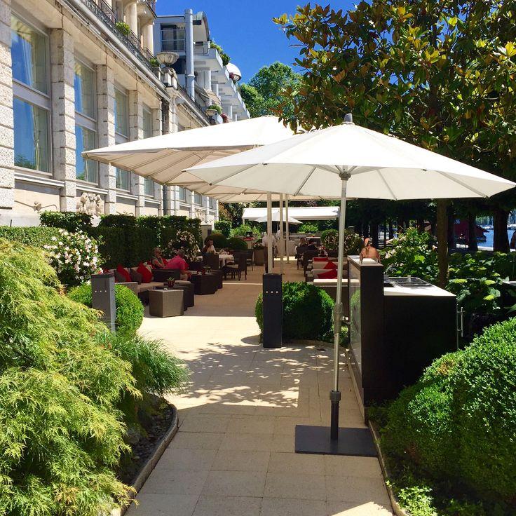 Hotel Palace Luzern - Wundervolle Terrasse am Vierwaldstättersee