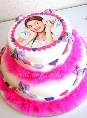Violetta cake #violettapartysupplies