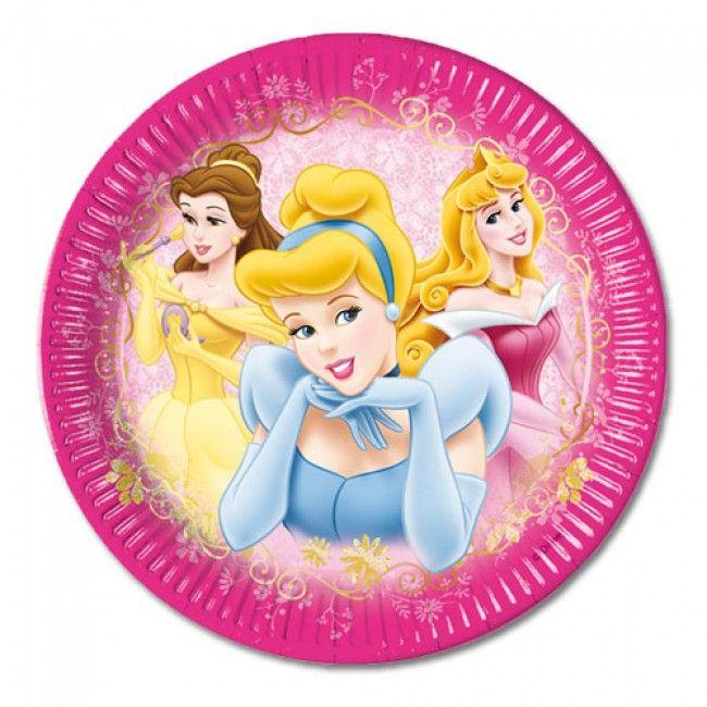 Platos de cartón con motivo Disney para celebrar tus cumpleaños.
