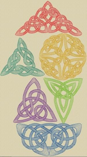 Celtic Knotwork Set ... the top one (in red) looks like it could be used as a photo corner or in a frame!  =)