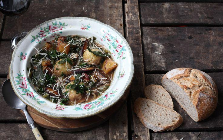 Organic Autumn Soup with Parmesan Dumplings - Abel & Cole