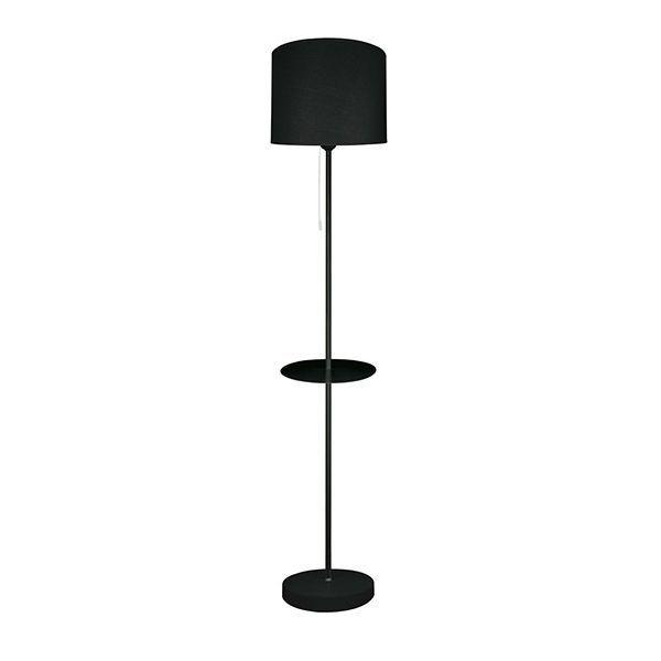 Lampadaire design noir avec port USB Connect