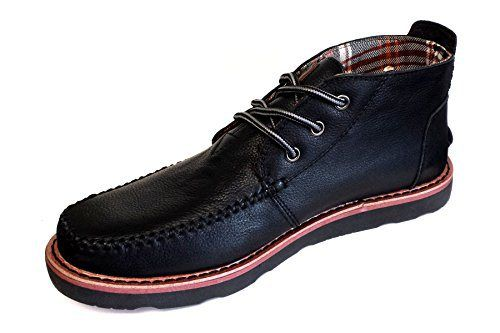 Toms Mens Chukka Boot Black Leather Size 9 - http://authenticboots.com/toms-mens-chukka-boot-black-leather-size-9/