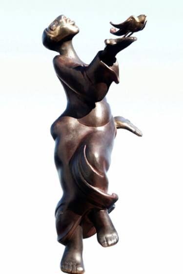 "Saatchi Art Artist Nina Winters; Sculpture, ""Fly, Fly, Little Wing"" #art"