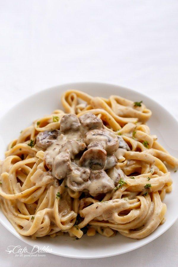 stroganoff cafe mushroom stroganoff wine creamy creamy beef pasta ...