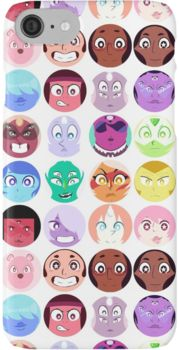Steven Universe - (Updated) Cast Pattern! iPhone 7 Cases