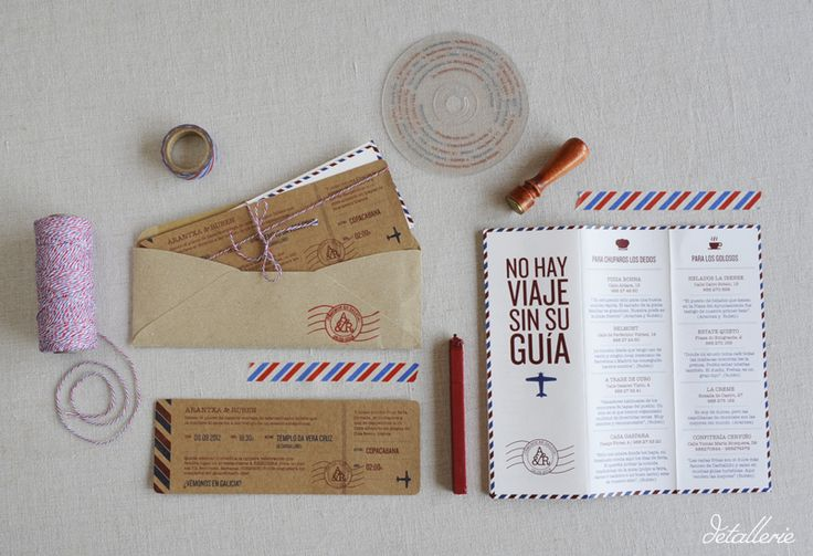 Invitaciones de boda papeler a de bodas boda viajera - Disenos tarjetas de boda ...