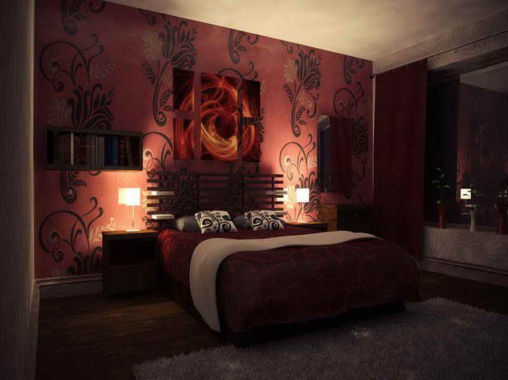 Sexy Bedroom Decor With Grey Rug