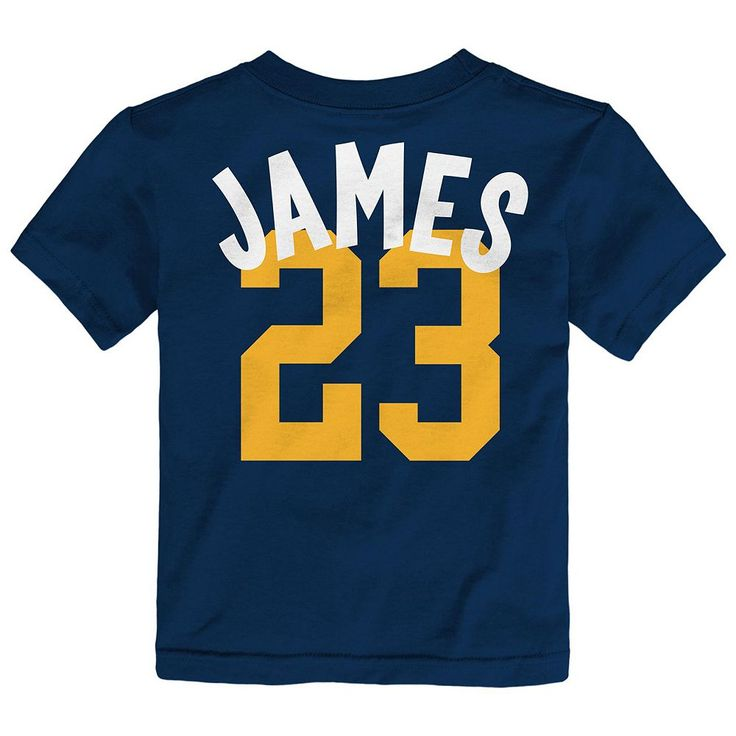 Toddler Adidas Cleveland Cavaliers LeBron James Whirlwind Tee, Kids Unisex, Size: 2T, Blue (Navy)