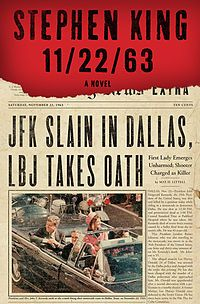 """Don't let the authors name scare you away!!  """"On November 22, 1963, three shots rang out in Dallas, President Kennedy died, and the world changed. What if you could change it back? Stephen King's heart-stoppingly dramatic new novel is about a man who travels back in time to prevent the JFK assassination—a thousand page tour de force."""""""