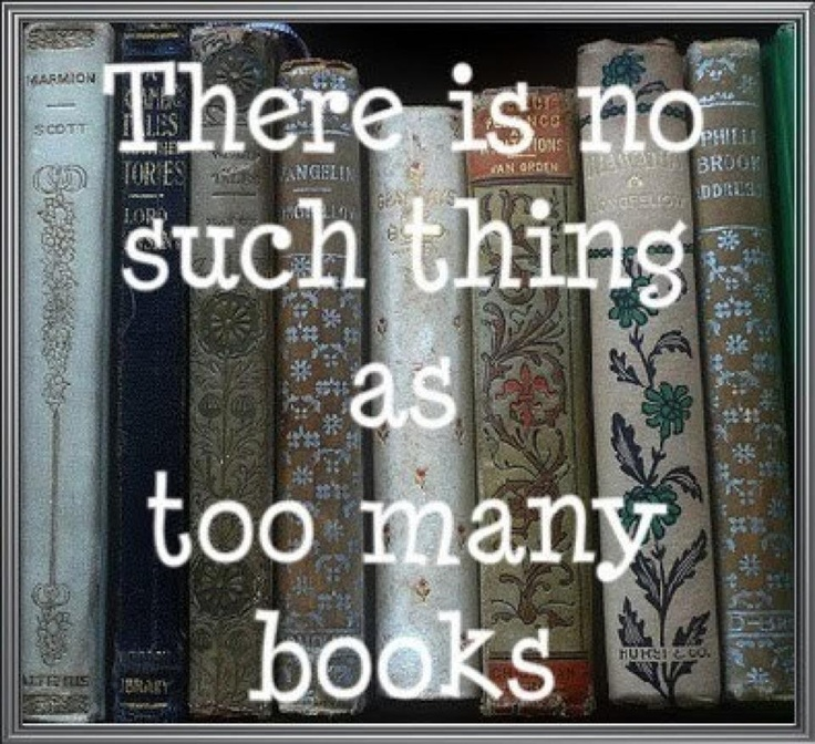 You can never have too many books!  Never!