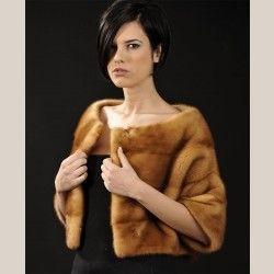 Golden Mink Fur Bolero - short sleeves