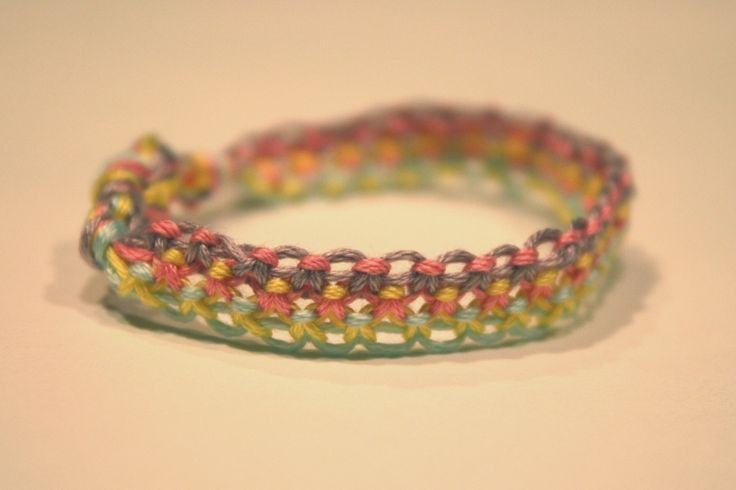 Macrame Bracelet Patterns | knew that once Little Jo saw this bracelet that she would want it ...