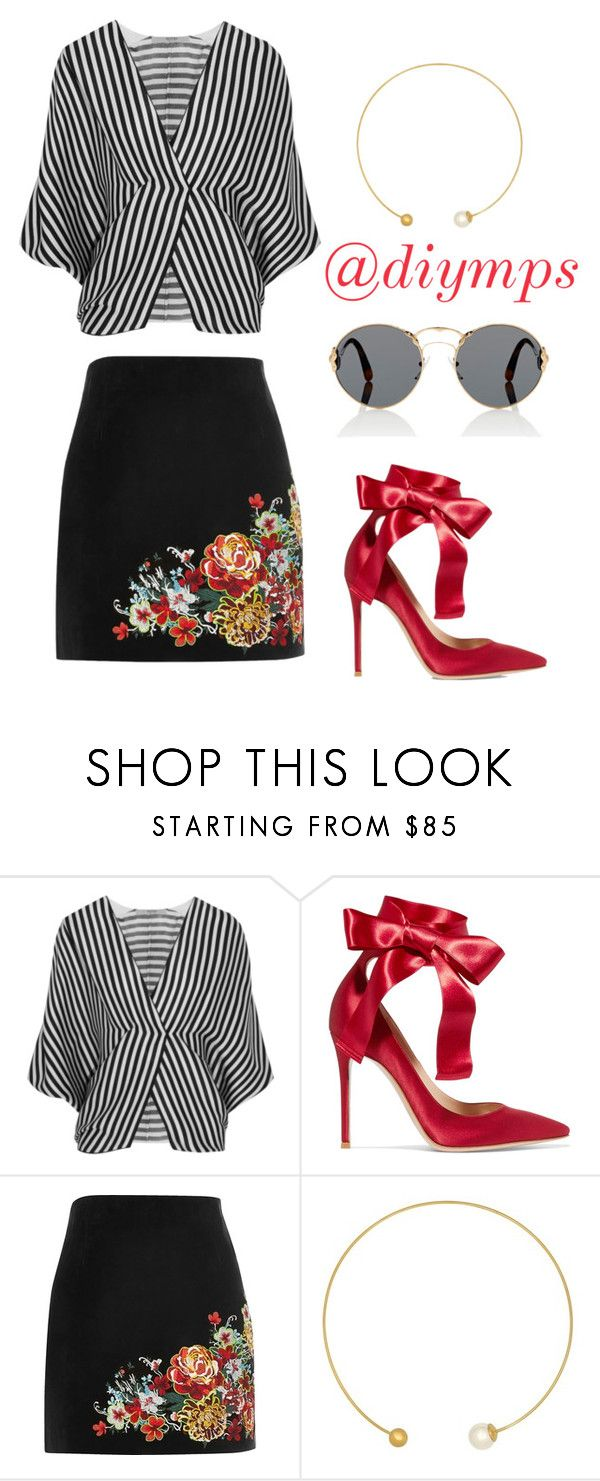 """""""Pepit, by @diymps"""" by diymps on Polyvore featuring Etro, Gianvito Rossi, River Island, Majorica and Prada"""