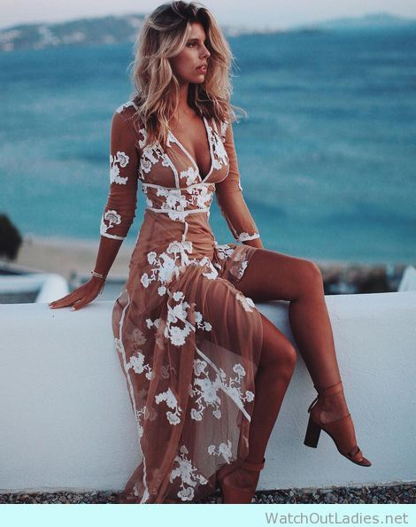 For love and lemons lace split dress
